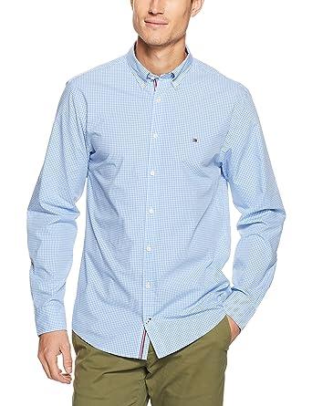 da9be7c27a5659 Tommy Hilfiger Men s Classic Check Long Sleeve Shirt  Amazon.com.au ...