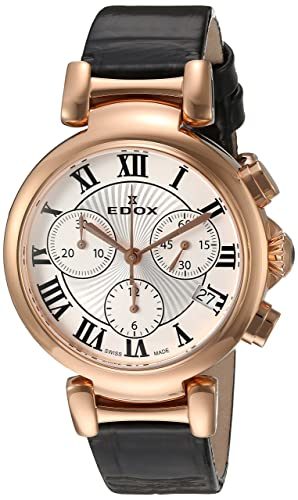 Edox 10220 37RC AR LaPassion - Reloj analógico de Cuarzo Suizo para Mujer, Color Negro: Edox: Amazon.es: Relojes