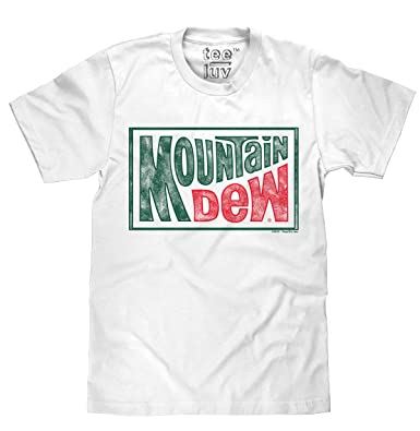 35182a74 Amazon.com: Tee Luv Mountain Dew T-Shirt - Retro Mt Dew Novelty ...