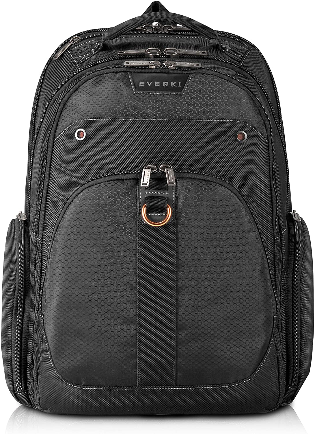 Everki EKP121S15 Atlas Checkpoint Friendly Laptop Backpack, 11-Inch to 15.6-Inch Adaptable Compartment, Black