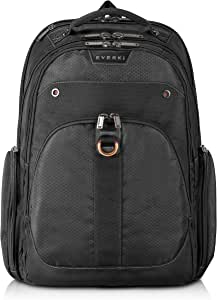 Everki EKP121-1 Atlas Checkpoint Friendly 13-Inch to 17.3-Inch Laptop Backpack Adaptable Compartment (EKP121),Black
