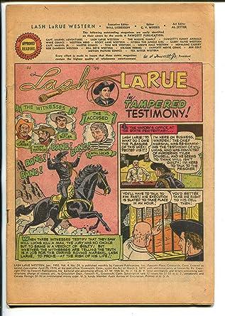 Amazoncom Lash Larue 24 1952 Fawcett B Western Movie Star