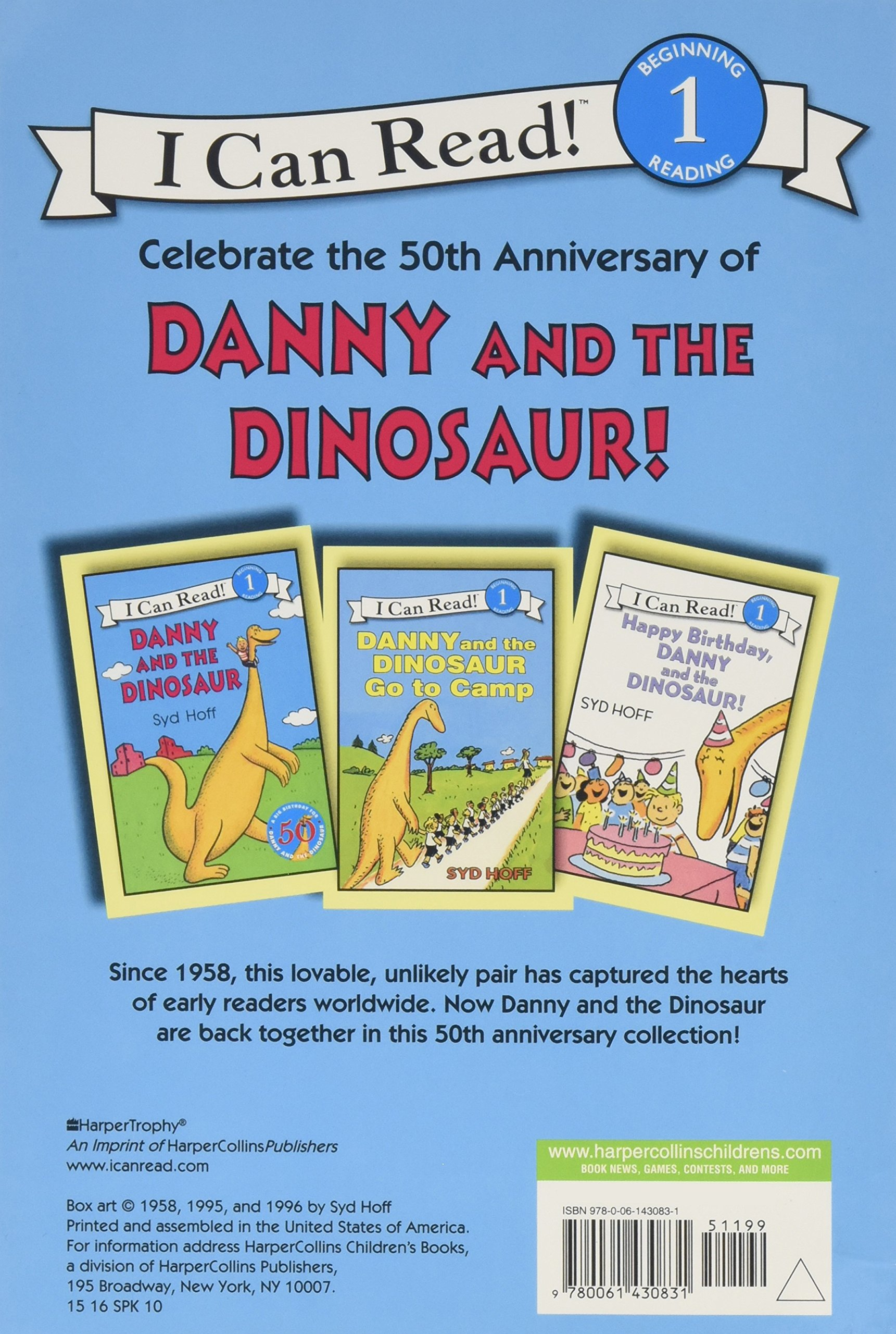 Danny and the Dinosaur 3-Book Box Set: Danny and the Dinosaur; Happy Birthday, Danny and the Dinosaur!; Danny and the Dinosaur Go to Camp (I Can Read Level 1) by Harper Collins