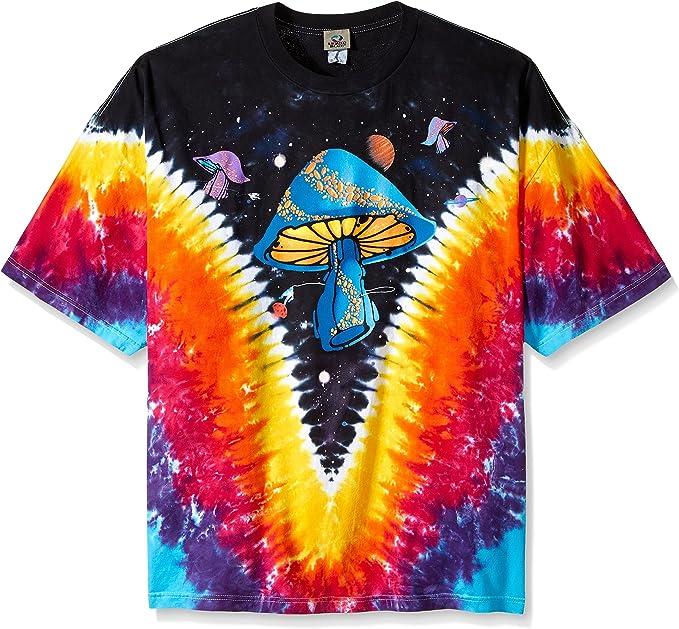 Women's 70s Shirts, Blouses, Hippie Tops Liquid Blue Mens Plus-Size Space Shroom T-Shirt $27.95 AT vintagedancer.com