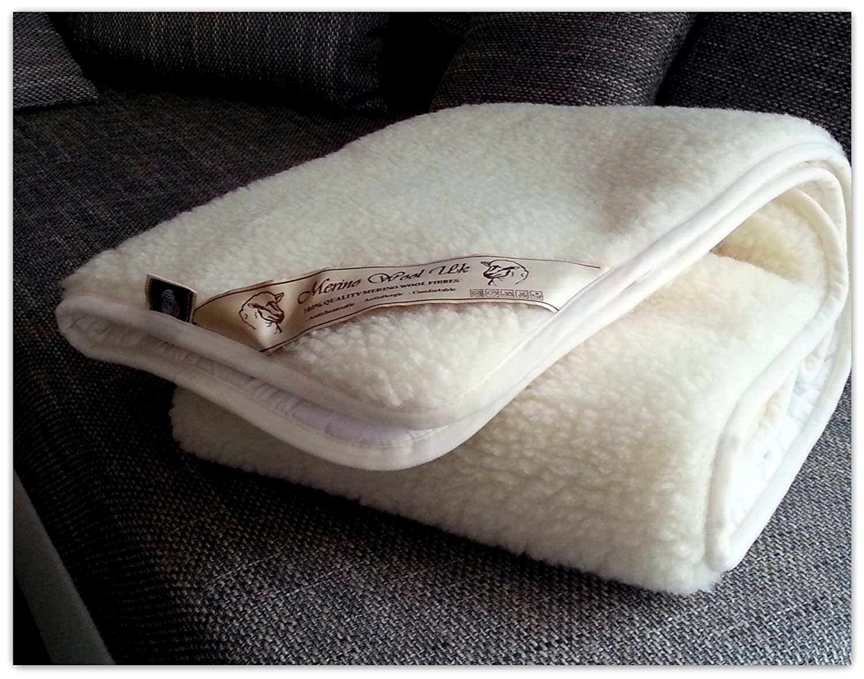 Reversible Mattress Topper Luxury & Warm & Reversible 100% Merino Wool Underblanket , All season under sheet mattress protector crib under blanket. For baby, infant, toddler, child. Naturally absorbs moisture. Sheet cot size: 60x120cm