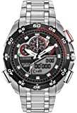 Citizen Watch PROMASTER SUPER SPORT Men's Quartz Watch with Black Dial Analogue Digital Display and Silver Stainless Steel Bracelet JW0111-55E