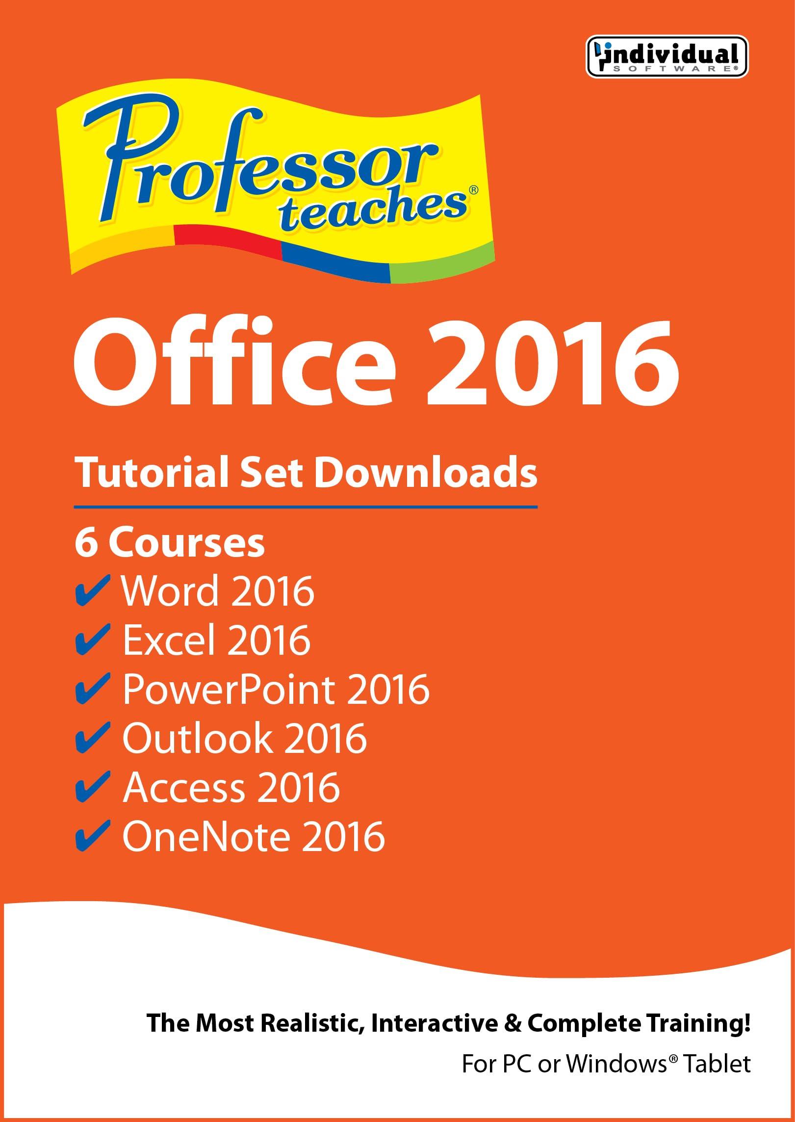 Professor Teaches Office 2016 Tutorial Set Downloads [Download]
