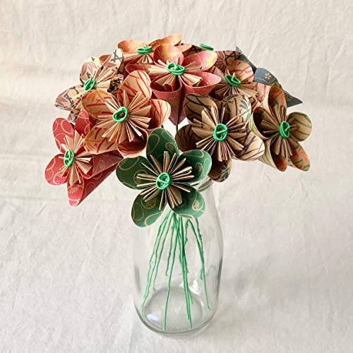 Miniature origami flower bouquet, folded by me. Traditional models ... | 500x500