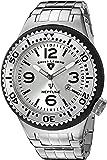 Swiss Legend Men's 'Neptune Force' Quartz Stainless Steel Casual Watch, Color:Silver-Toned (Model: 21819P-22S-SB)