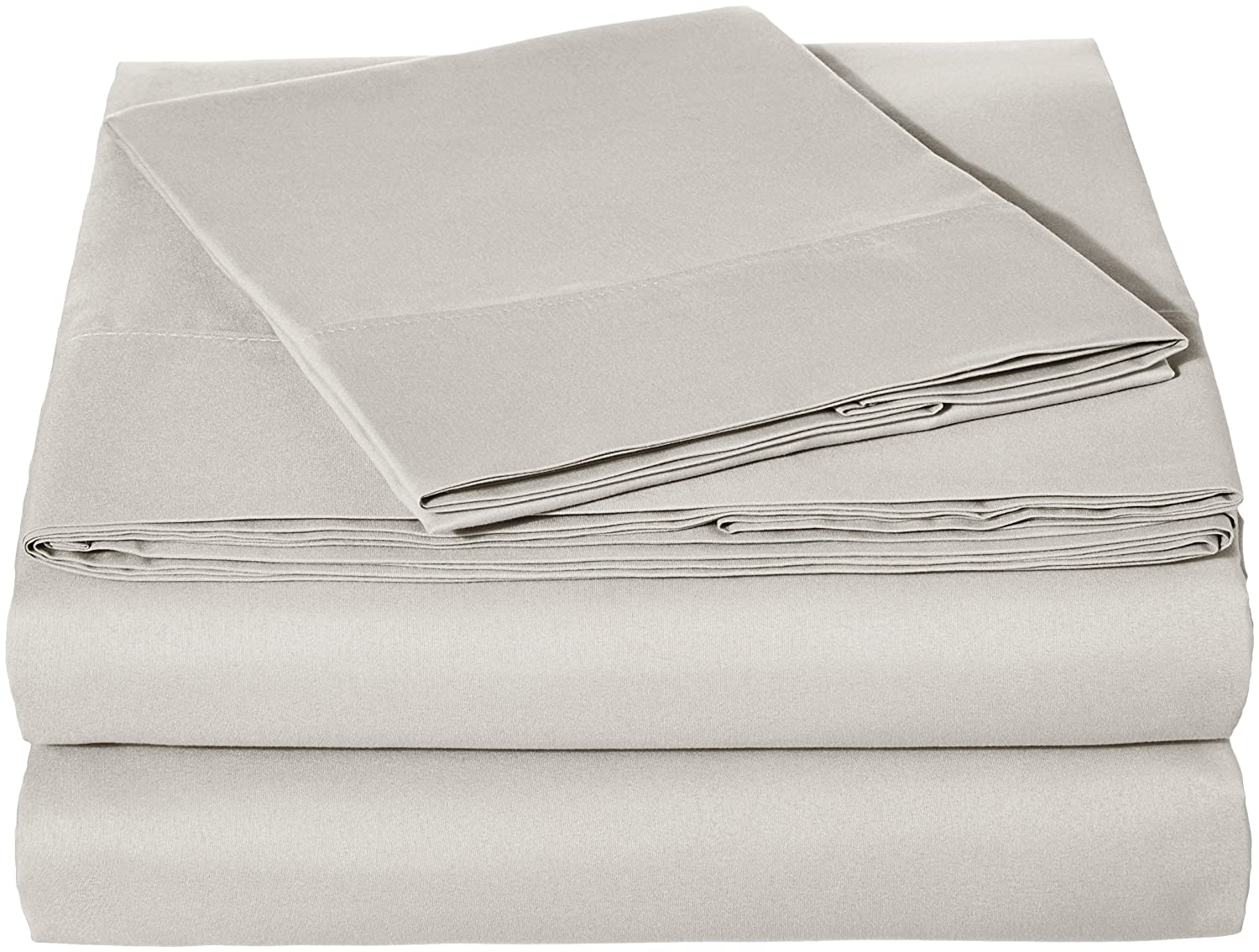 AmazonBasics Microfiber Sheet Set - Twin, Light Grey