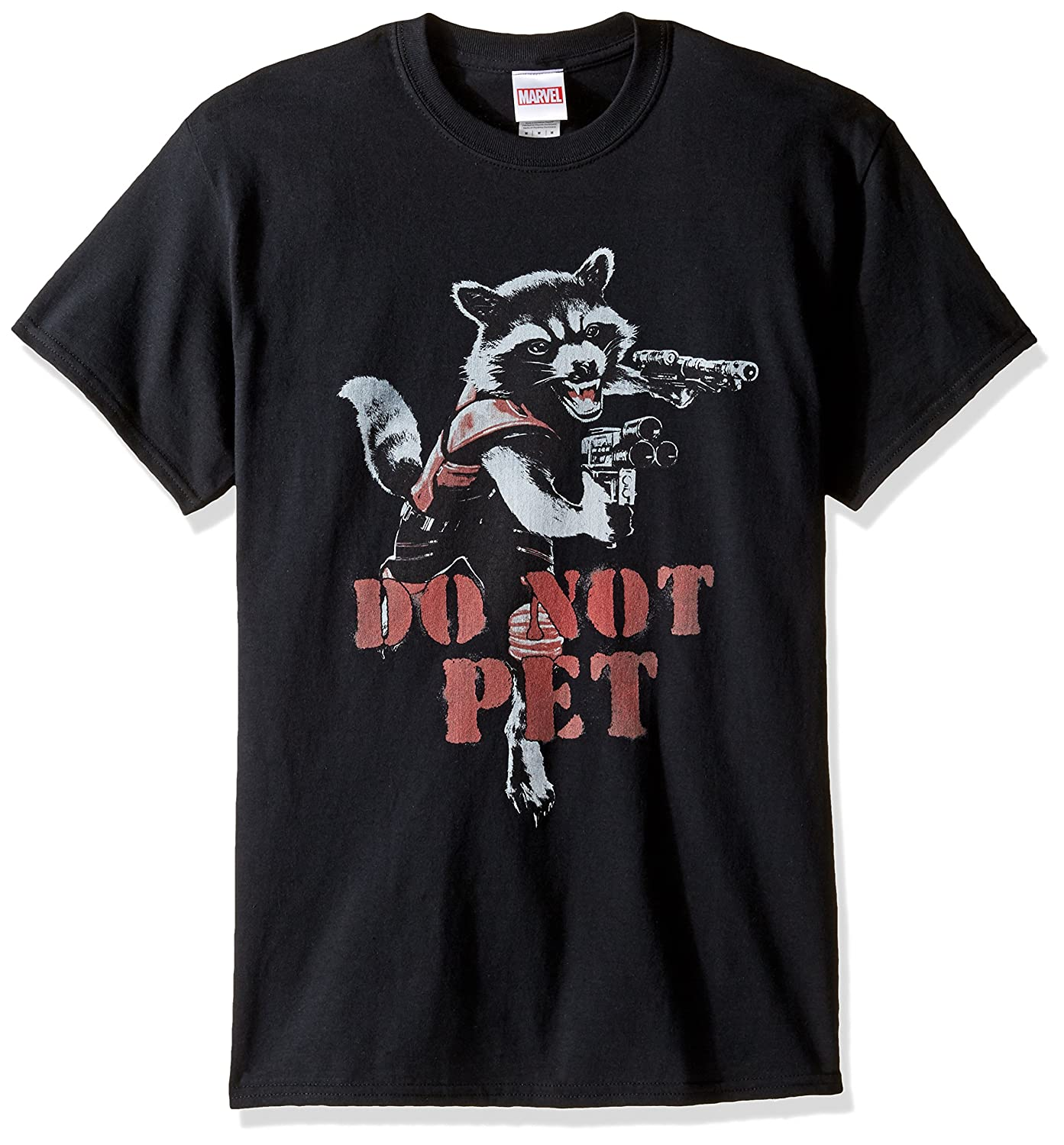 Marvel Mens Do Not Pet Rocket Raccoon T-Shirt G1SN016