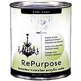 Majic Paints 8-9401-2, Black, Interior/Exterior Satin Paint, RePurpose your Furniture, Cabinets, Glass, Metal, Tile…