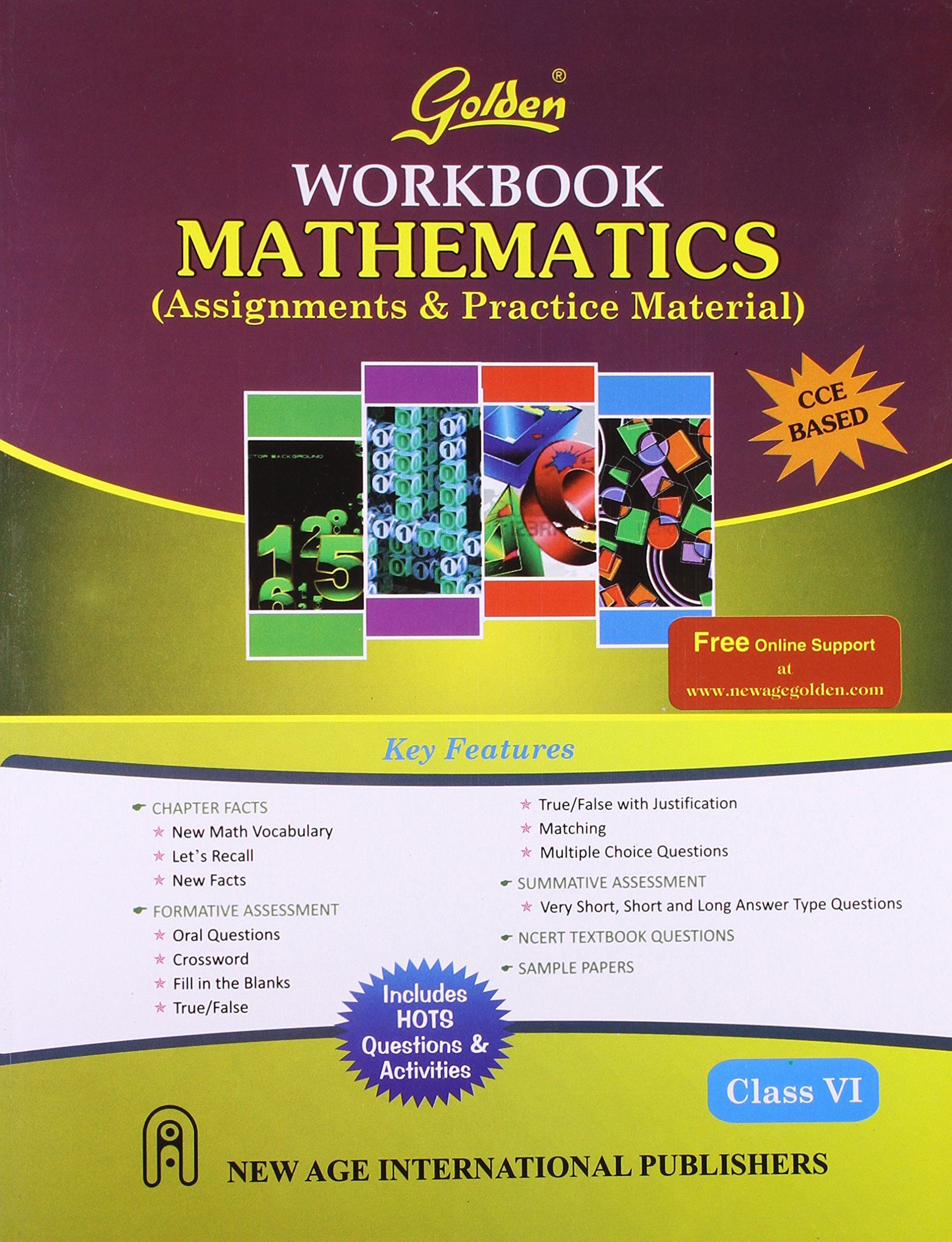 Golden Workbook Mathematics: Assignments & Practice Material for