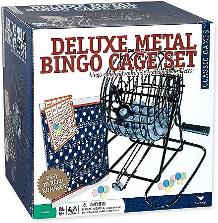 TOYANDONA Bingo Game Set with Bingo Cage Bingo Balls Electric Lottery Machine Party Game for Adults Families Kids