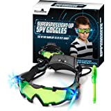 STICKY LIL FINGERS Light-up Spy Goggles - Spy Gear for Kids - Play Secret Agent with Protective Adjustable Eyewear Toy That L