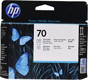 HP 70 Photo Printheads for Photosmart Pro B9180 Printers, Black and Light Gray
