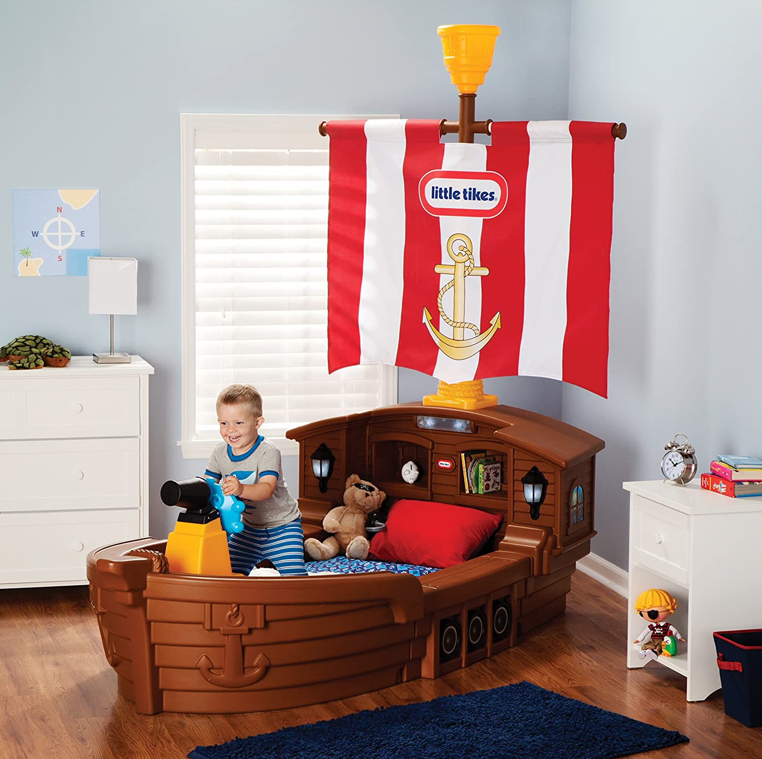Amazon Little Tikes Pirate Ship Toddler Bed Toys & Games
