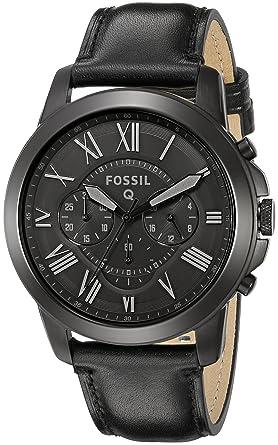 Fossil Hommes de ftw10011 Q Grant Chronographe en cuir noir montre Connecté