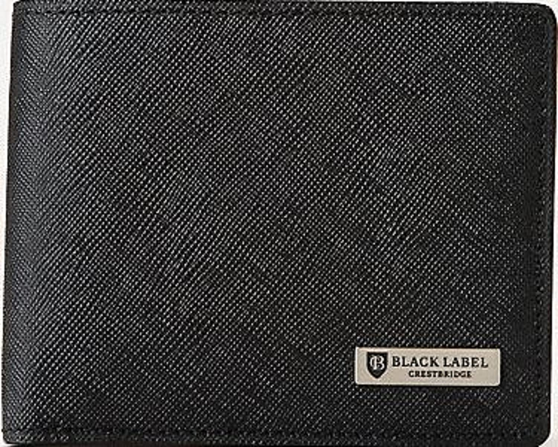 クレストブリッチ メンズ 財布 二つ折り財布 プリムレザーコインタイプ バーバリー ライセンス商品 B017KNMKXO ネイビー ネイビー