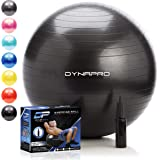 DYNAPRO Exercise Ball – Extra Thick Eco-Friendly & Anti-Burst Material Supports Over 2200lbs – Stability Ball for Home…