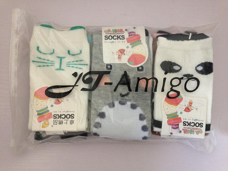 0-1 years JT-Amigo Unisex Baby Kids Knee High Socks Stockings Pack of 9