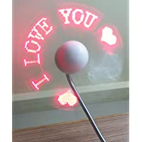 Telicart Led Programmable Message Fan W/Custom Drawing - USB Powered (Red Led)