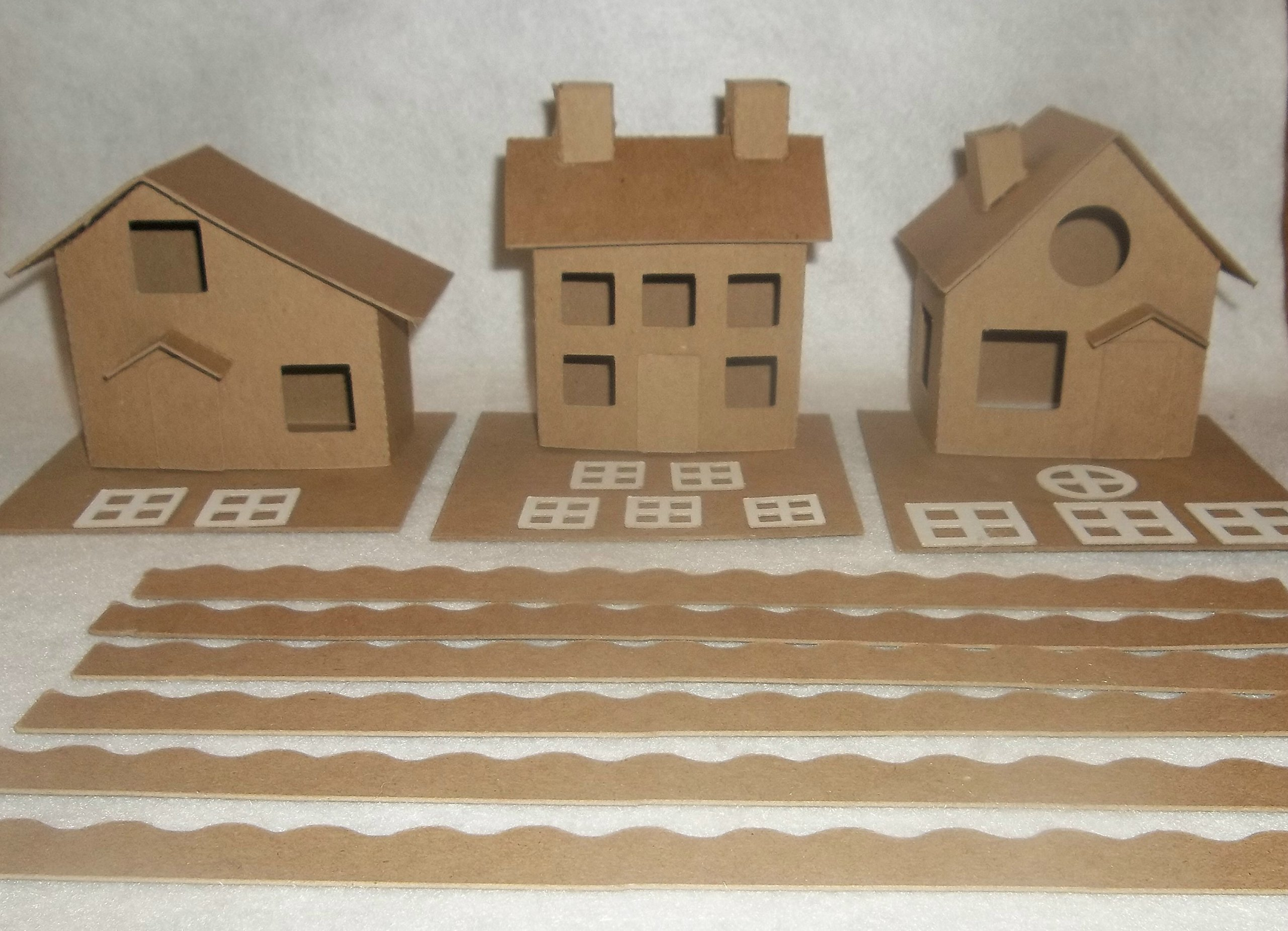 Putz Style Little Village Cardboard House-Cottage/Colonial/Slanted Roof