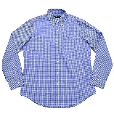 74974e02b21c Polo Ralph Lauren Men's Classic Fit Long Sleeve Woven Buttondown Shirt (L,  Blue White Gingham) at Amazon Men's Clothing store: