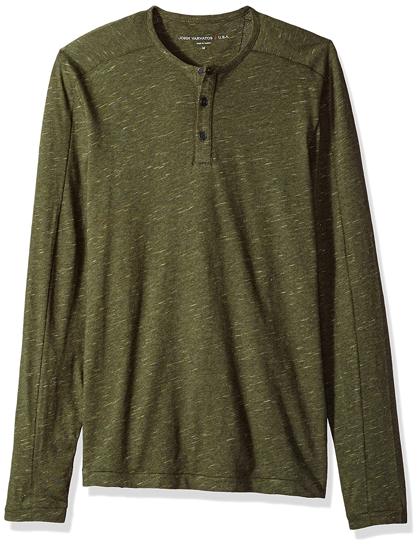 John Varvatos Men's Long Sleeved Henley Bbk3b 391 K3253T3BBKB3B