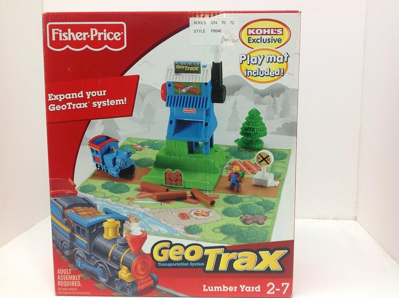Amazon.com: GeoTrax Fisher Price Lumber Yard Kohls Exclusive #P8546 ...