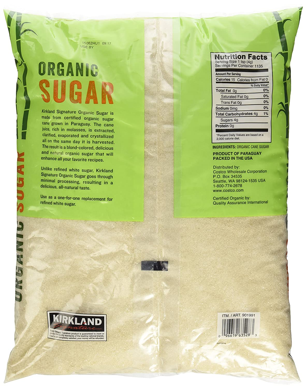 amazon com kirkland signature organic sugar 10 lb grocery