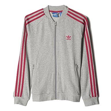 2fa7687ebcaa Amazon.com  adidas Girls Originals SST Track Jacket (S)  Clothing