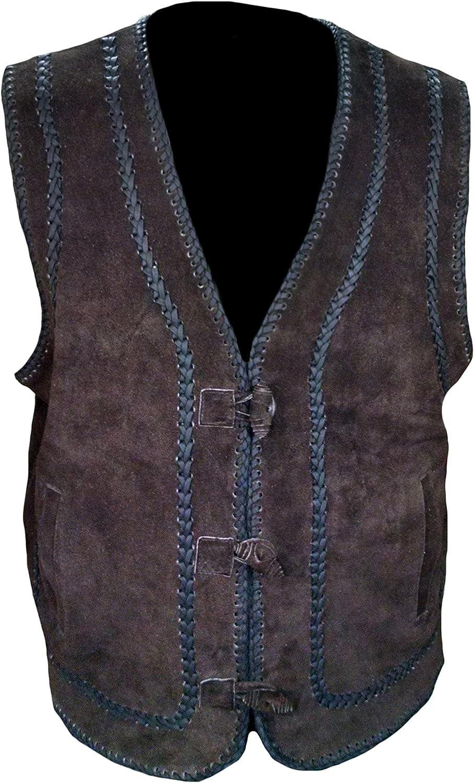 Classyak Mens Fashion Leather Vest