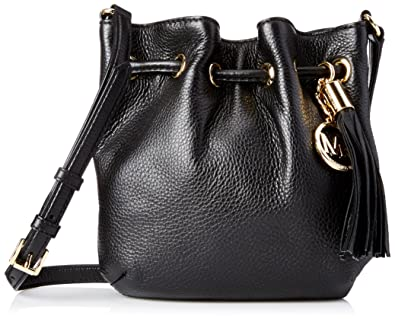 14565ebb9b48 Michael Kors Ring Tote Crossbody Black Leather: Handbags: Amazon.com