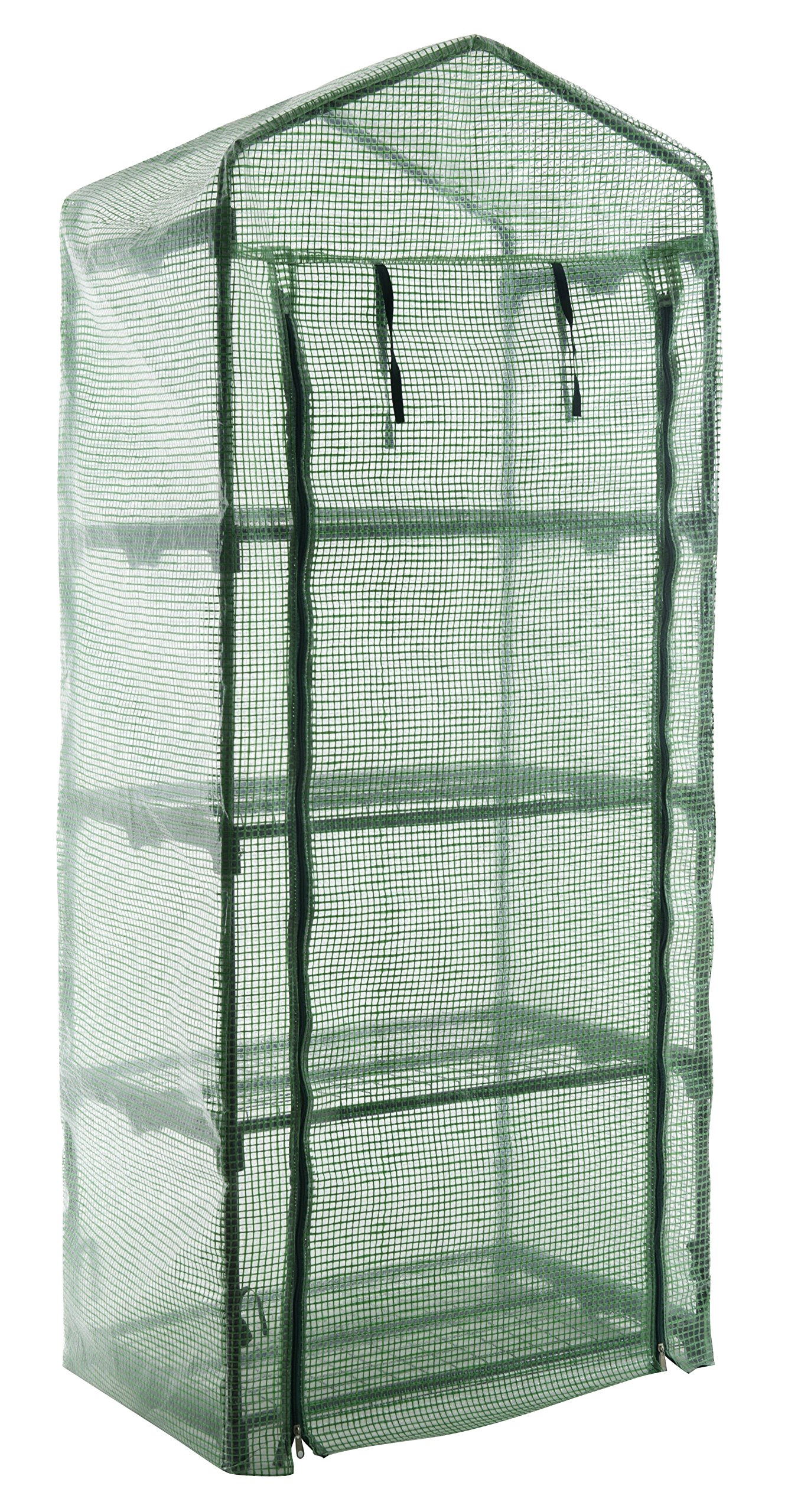 GOJOOASIS 4 Tier Mini Portable Garden Greenhouse Plants Shed Hot House for Indoor and Outdoor by GOJOOASIS