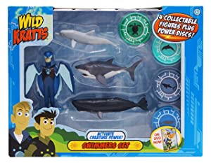 Wild Kratts 4-Pack Action Figure Set - Activate Creature Power - Swimmers