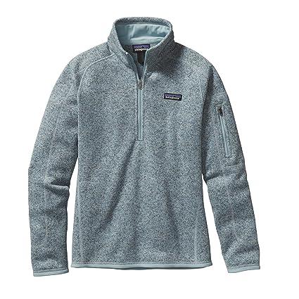 e9e3cc46a0611 Amazon.com: Patagonia Womens Better Sweater 1/4 Zip, Tubular Blue ...