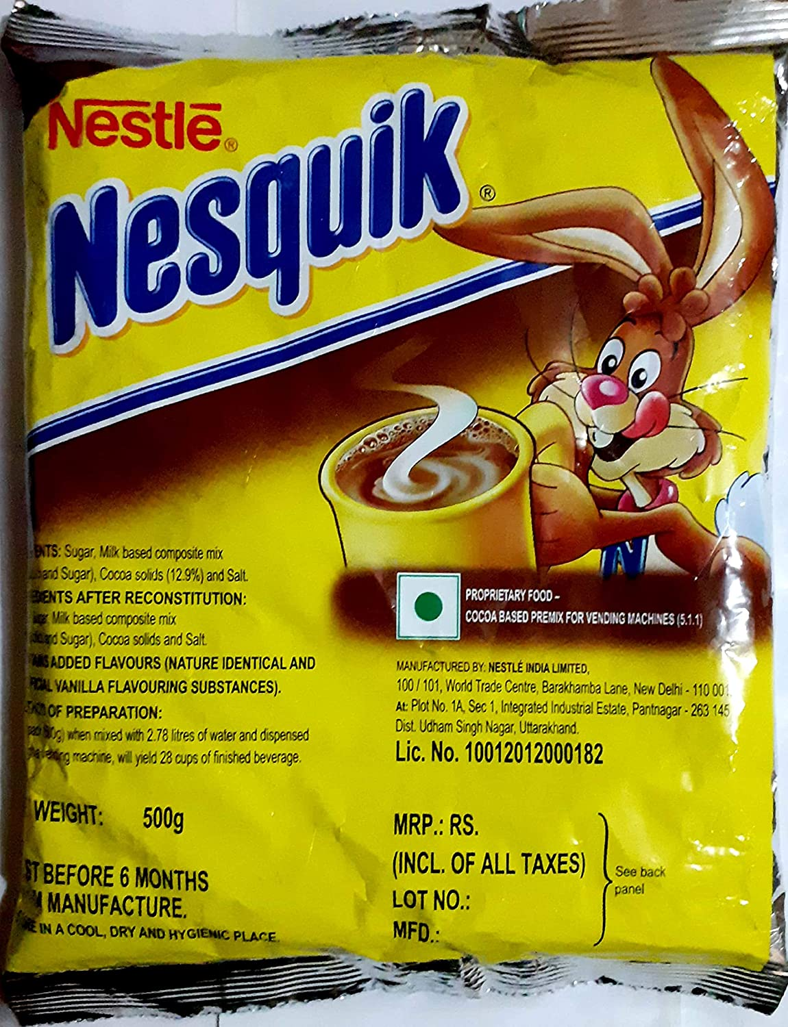 Nestle Nesquik Premix (Hot Chocolate) 500Gms