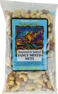 Trader Joe's Roasted & 50% Salted Fancy Mixed Nuts 16 oz.