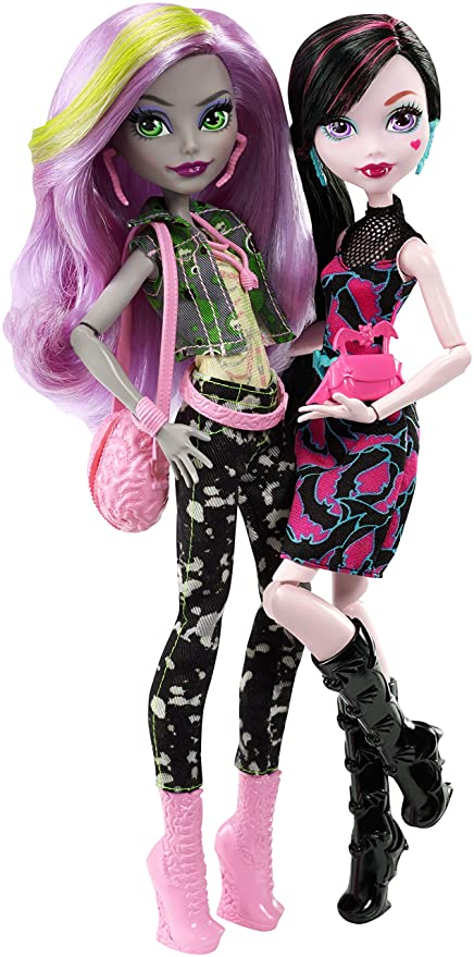 amazon com monster high welcome to monstrous rivals 2 pk dolls