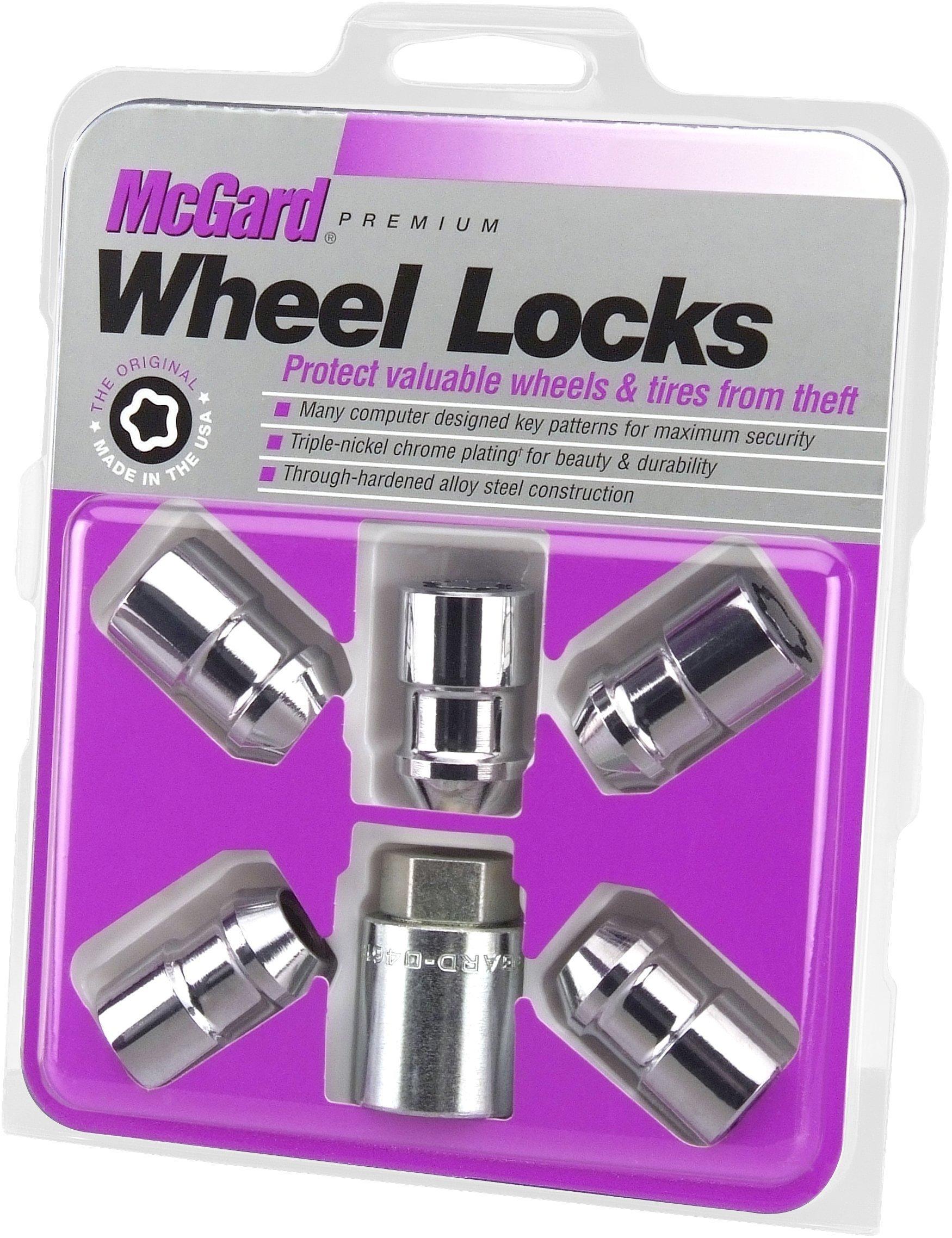 McGard 24538 Chrome Cone Seat Wheel Locks (1/2'' - 20 Thread Size) - Set of 5 by McGard (Image #1)