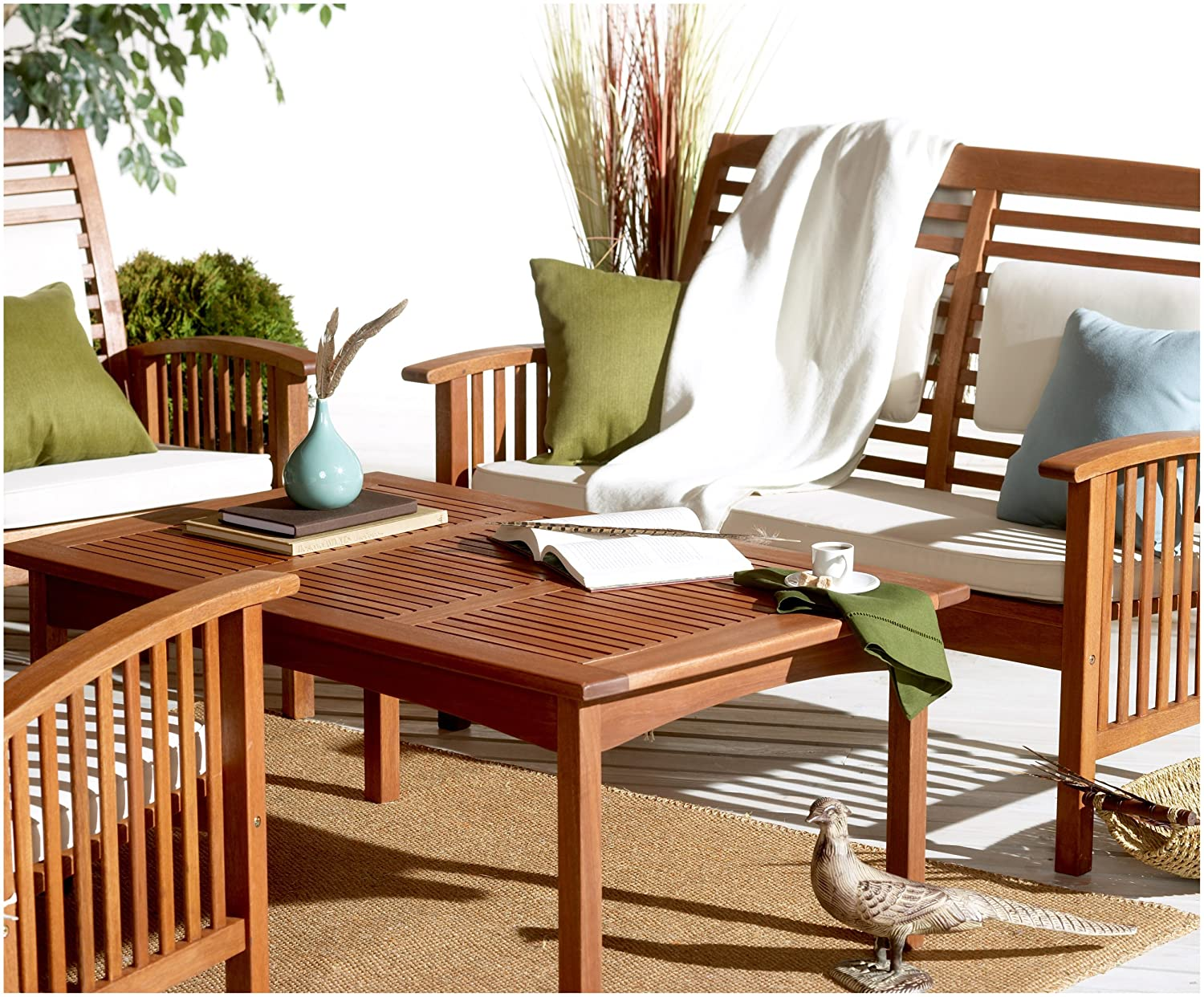 Amazon.com: Strathwood Gibranta All-Weather Hardwood Furniture Collection:  Garden & Outdoor