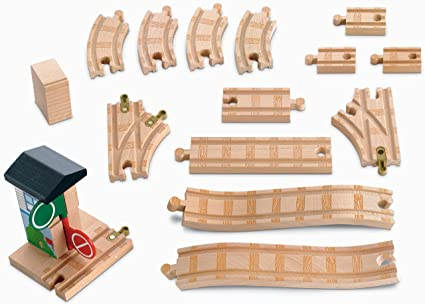 Fisher Price Thomas Friends Wooden Railway Deluxe 8 Expansion Track Pack