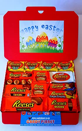 Reeses easter eggs large american candy gift box hamper 32cm x reeses easter eggs large american candy gift box hamper 32cm x 23cm peanut butter chocolate negle Images