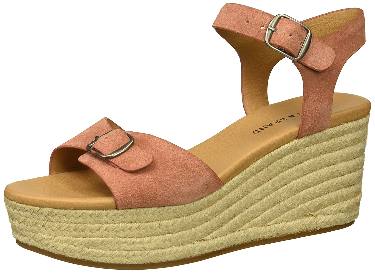 Lucky Brand Women's Naveah Espadrille Wedge Sandal B078C9QV57 5.5 M US|Canyon Rose