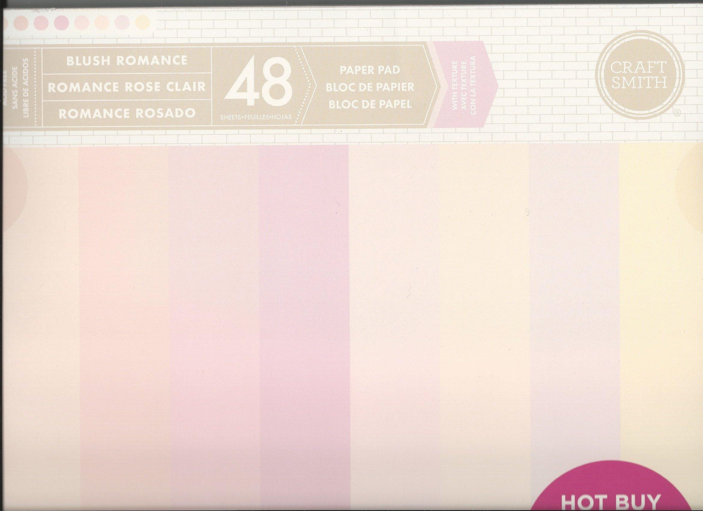 Craft Smith 12 x 12 Blush Romance Wedding Neutral Paper Pad