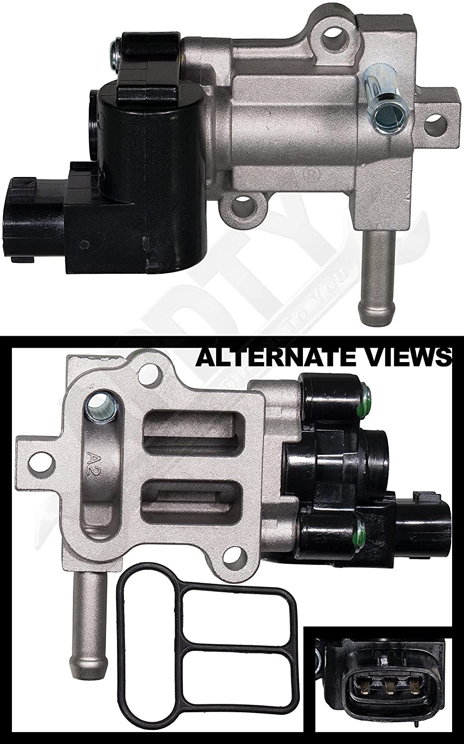 Apdty 134103 Iac Idle Air Control Valve Motor W Gasket 2000 Toyota 4runner Fits 2004 Tacoma 24l Or 27l 4 Cylinder Engine Replaces 22270 75050