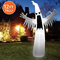 Joiedomi Halloween 12 FT Inflatable Towering Terrible Spooky Ghost with Build-in LEDs Blow Up Inflatables for Halloween Party Indoor, Outdoor, Yard, Garden, Lawn Decorations