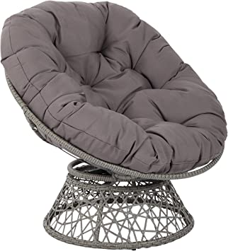 Osp Designs Bf25292 Gry Papasan Chair Grey Amazon Ca Home Kitchen
