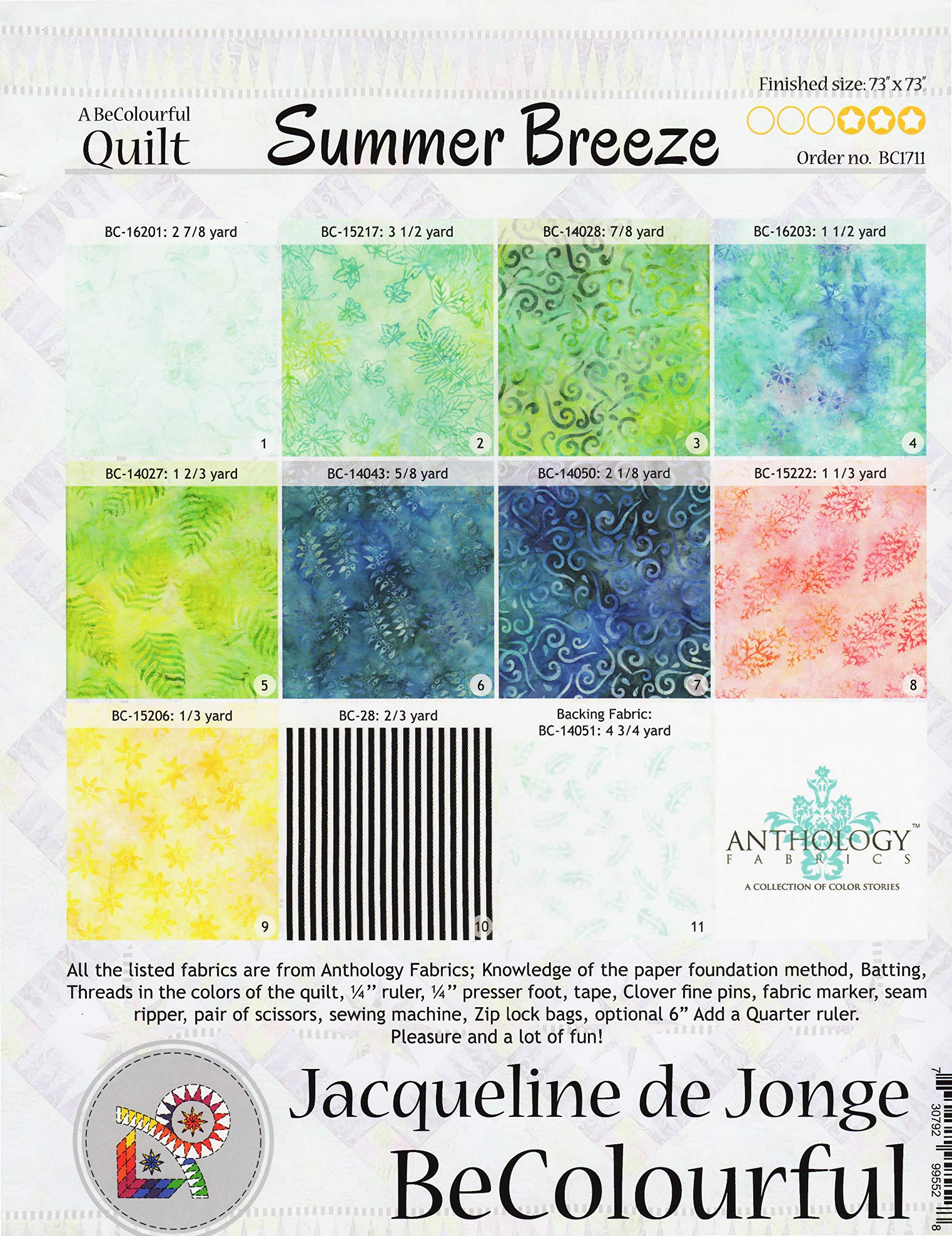 Summer Breeze Foundation Paper Piecing Quilt - 73'' x 73'' Quilt - by Summer Breeze Foundation Paper Piecing Quilt - 73'' x 73'' Quilt -